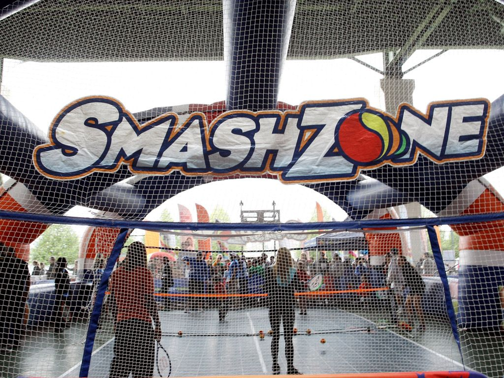 Portable Playing|SmashZone brought these awesome tennis courts to D.C. for an action-packed Day of Play.