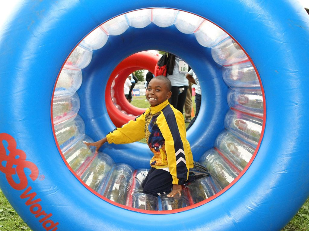 Inflatable Fun|Ever wonder what it's like to be a hamster in a wheel? These guys are finding out!