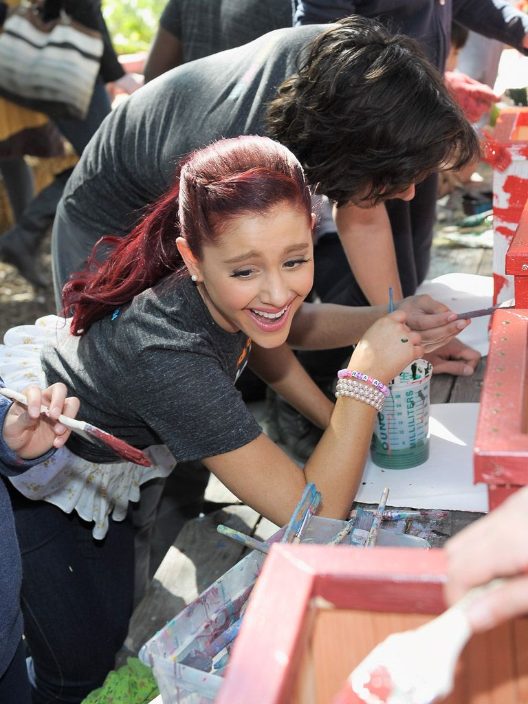 Paint Party|Ariana Grande isn't worried about her perfectly polished nails as she has the time of her life painting with her cast mates and the kids of King Middle.