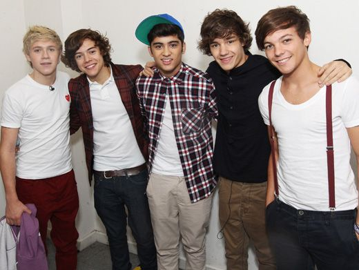 Meet One Direction!|If you don't know these awesome dudes already, let us introduce you! From left to right, we have Niall Horan, Harry Styles, Zayn Malik, Liam Payne and Louis Tomlinson.