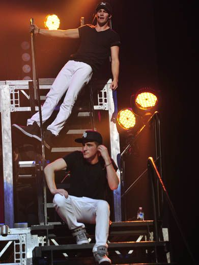 Elevate a Little Higher|James is putting his words into action by climbing up a little bit higher than Kendall. LOL!