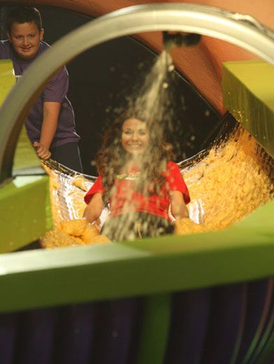 Slide-o-Sludge|We don't know about you, but we'd definitely love to slip-n-slide down the brain drain. Just look how much fun Vicky's having!