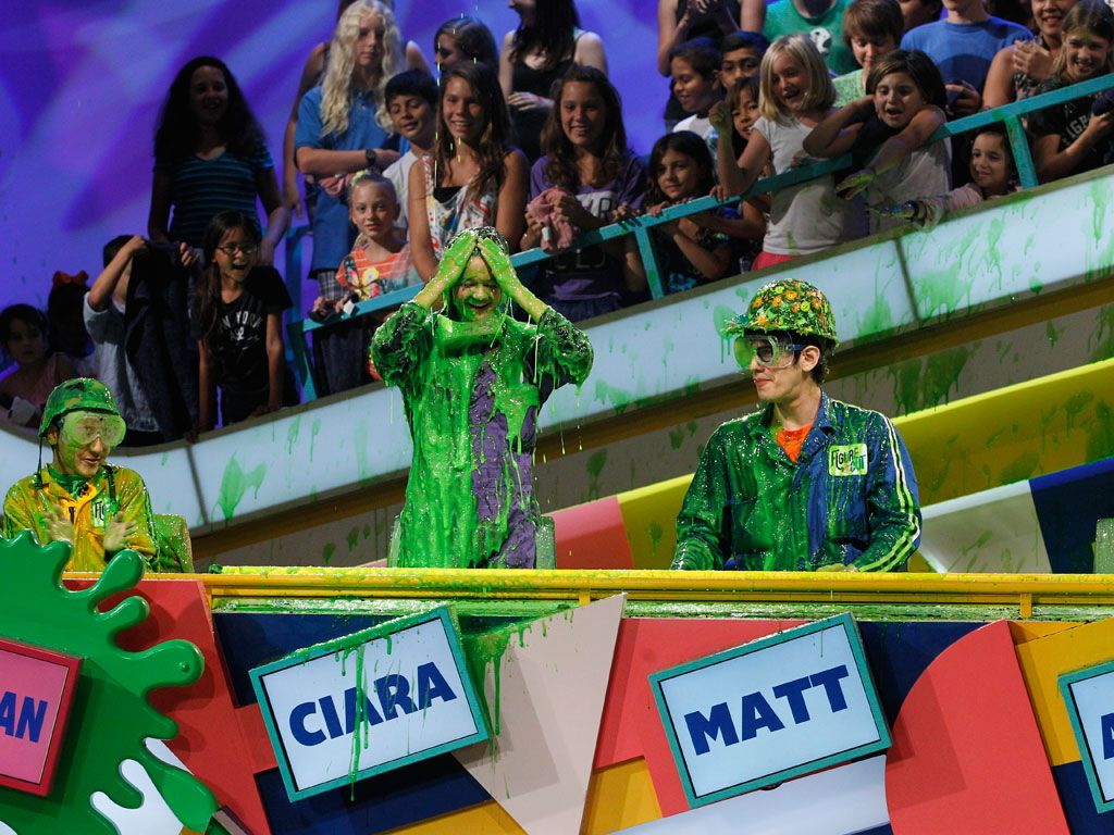 Best Seats in the House|The audience is loving Ciara's slime attack, especially since they got to see it front and center!
