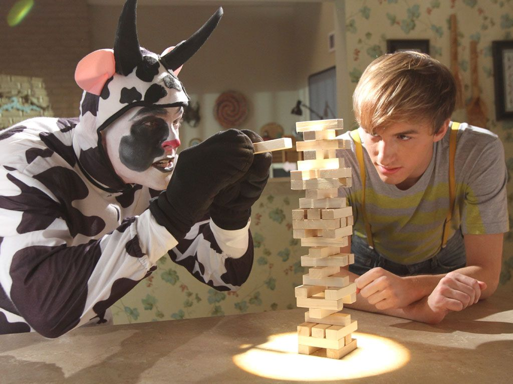 Matching Wits|How do you stop an Expired Cow from ruining your baked goods? Everyone knows it's with a Jenga duel. Fred should really stop drinking expired milk.