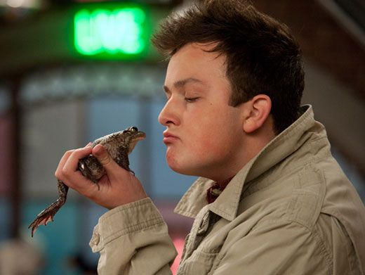 Gibby The Prince|Pucker up toad! The Gibster seems to think a smackaroo will make his toad-turned-fairy-tale-princess dreams come true.