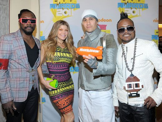 Peas the Day|Not only did the Black Eyed Peas have a slime-azing performance, but they went home with a blimp!