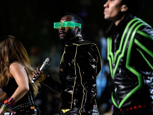 Super Shades|Are will.i.am's glasses real or computer generated? Where can we get a pair? The Matrix maybe?