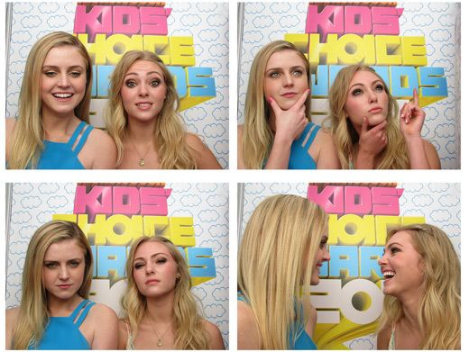Anna Camera|Annasophia Robb and Lorrain Nicholson ham it up for the KCA photo booth. Don't they look absolutely fab?