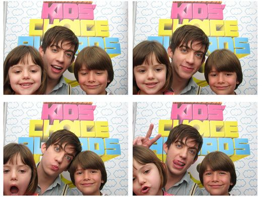 Geeky Gleeks|Gleek star Kevin Mchale strikes some funny poses with his miniature guests!