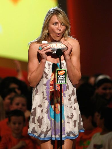 Wacky Winner|Cameron Diaz goes a little loco over winning a KCA blimp.