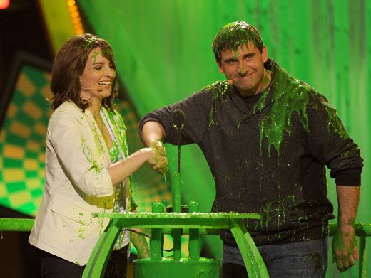 Partners in Slime|Tina Fey and Steve Carell decide to take the slime-plunge together.