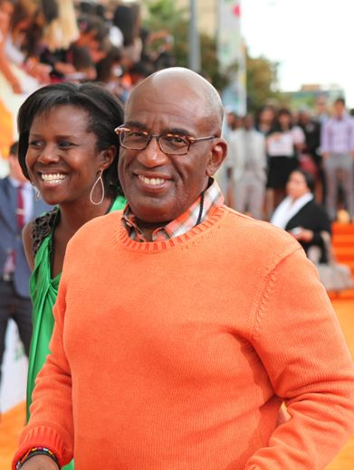 KCA 2012: Al Roker|Before heading inside, NBC Weatherman Al Roker made sure to tell us the projected weather at the KCAs...sunny with a 100% chance of SLIME!
