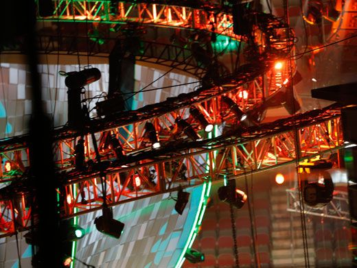 Hangin' Out|High above all the stars in their seats is plenty of stage lighting to set the scene. How long 'til the show again? The anticipation is killing us!