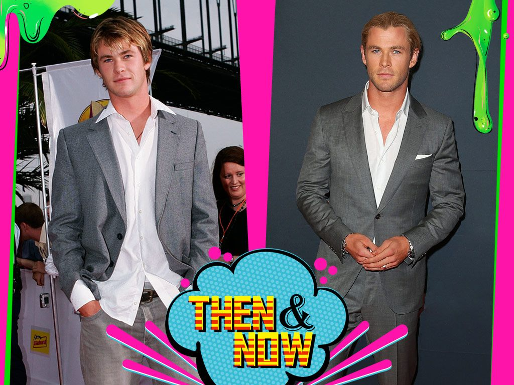 Chris Hemsworth|WOWZA! Chris definitely looks more polished now, but he's always be a-thor-able!