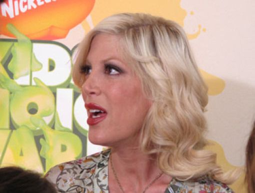 Tori Spelling|Tori Spelling is spotted on the Orange Carpet.