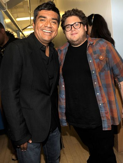 George Lopez & Jonah Hill|Usually these funnymen focus more on making other people smile. Tonight it was their turn.