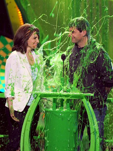 Slime Date|Tina Fey and Steve Carell asked for an award. Who knew it would be so green?