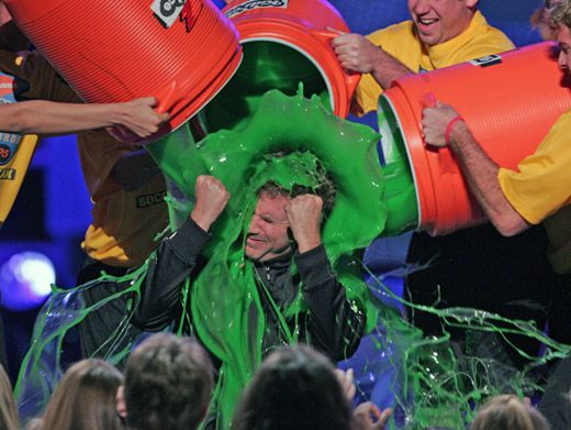 Funnyman Ferrell|Kicking and screaming couldn't keep Will Ferrell slime-free.