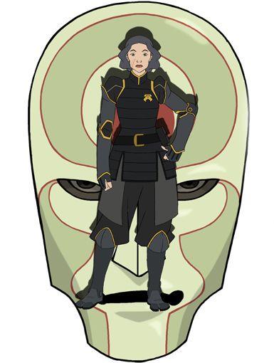 CHIEF LIN BEIFONG|Although Republic City's safety is this metalbender's top priority, she's never been a huge fan of Korra...