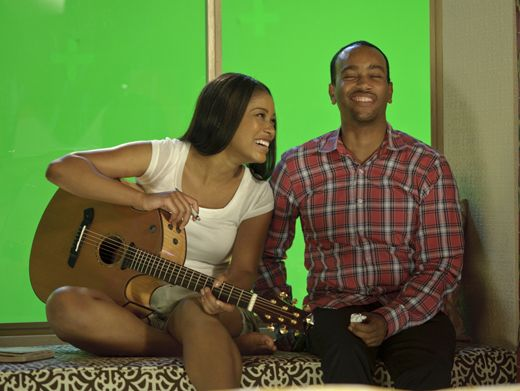 Musical Mischief|Isaiah looks like he's trying to make Keke laugh, and it's working!