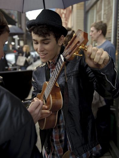 Tuning the Uke|That ukulele is almost as adorable as Max! He's tuning it up to play a lovely 'lele melody.