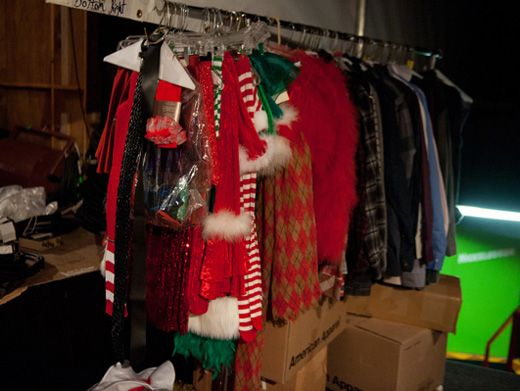 Wintery Wardrobe|The casts' costumes are ready to go! And a special thanks to the holiday elves...They pulled a few strings.